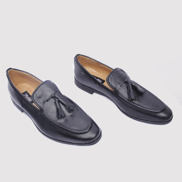 Trevor tassel loafers black leather zorkle shoes in lagos nigeria