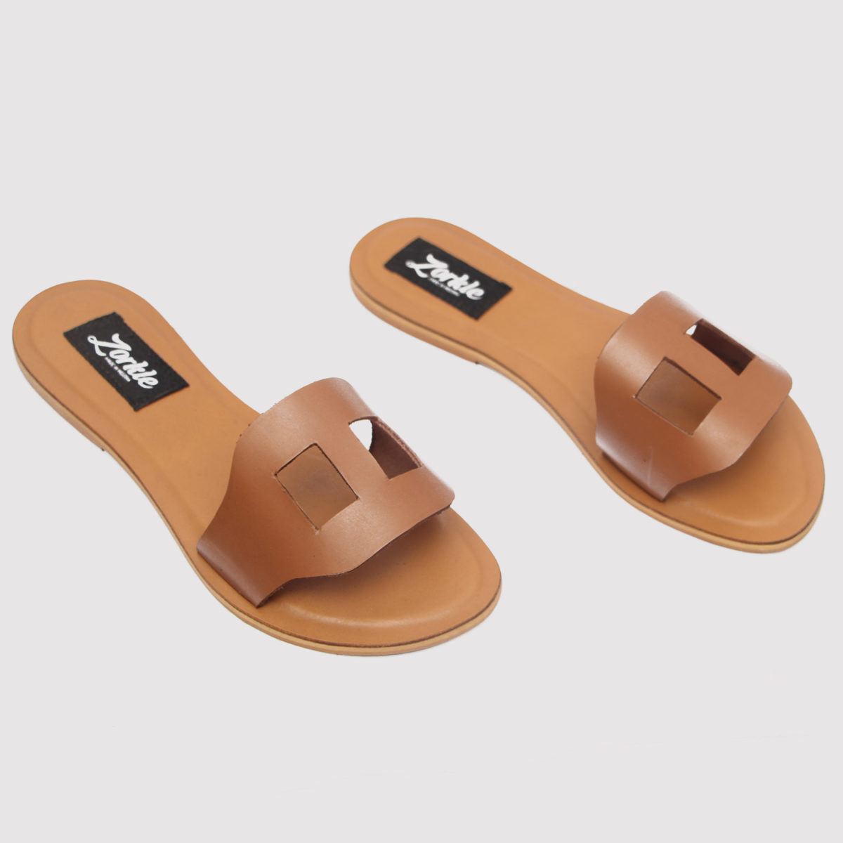 Tofs slippers brown leather zorkle shoes in lagos nigeria