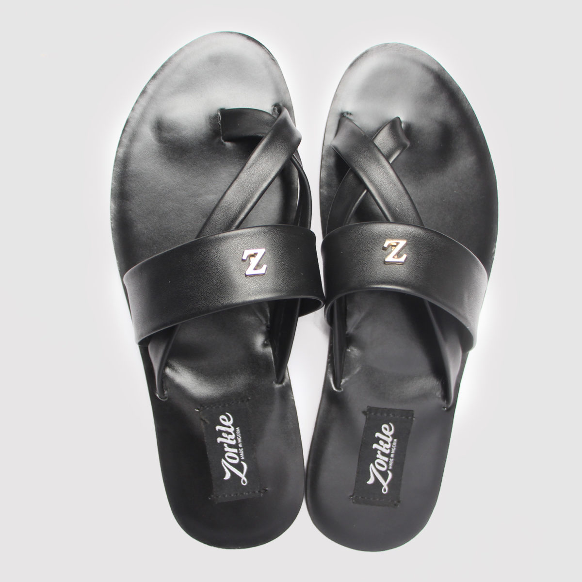 Volt Zedo Slippers Black Leather ZMP078 - Zorkles Shoes