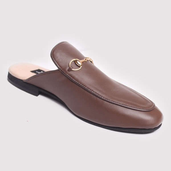 Richy Half Shoes Brown Leather ZMS086 - Zorkle Shoes