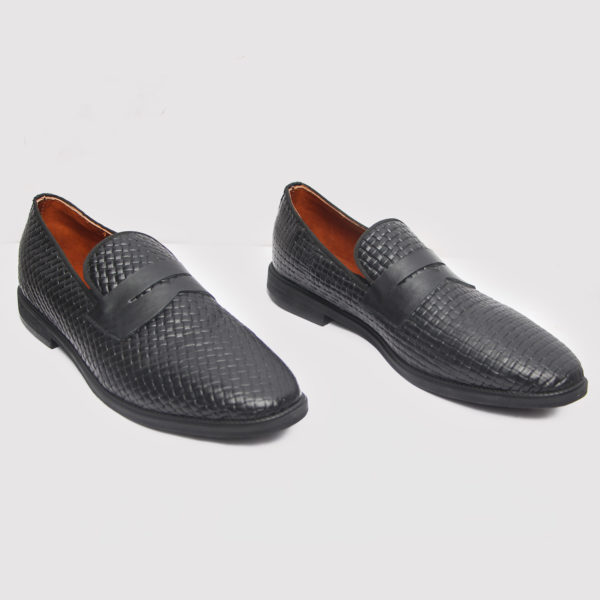 Ike loafers black leather ZMS084 - Zorkle Shoes
