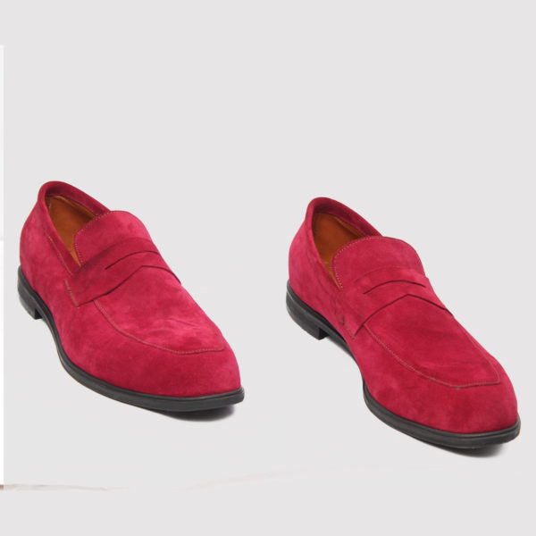 Penny Loafers Wine Suede ZMS075 - Zorkle Shoes