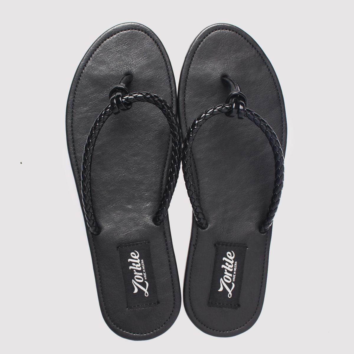 Roller Slippers Black Leather ZMP076 - Zorkles Shoes