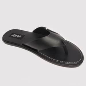 Baloma Slippers Black Leather ZMP074 - Zorkles Shoes