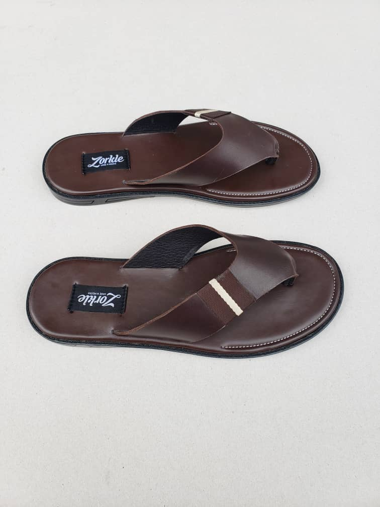 Baloma Slippers Coffee Brown Leather ZMP074 - Zorkles Shoes