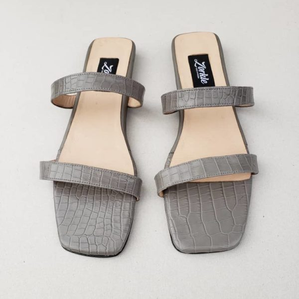 Nami Flat Slippers grey ZFP071 - zorkle shoes