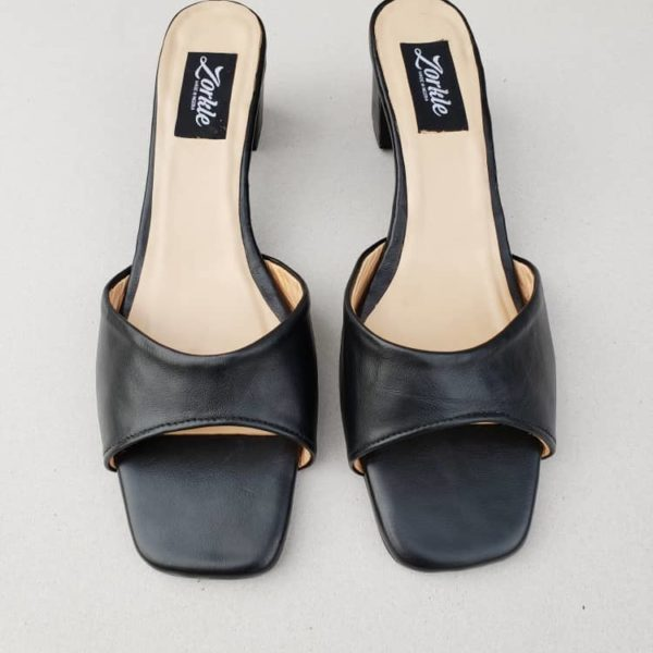 Tosyn Black Sandal With Heels ZFP072 - zorkle shoes