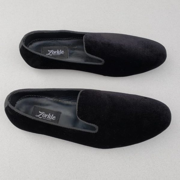 Baller Velvet Slippers Black ZMS092