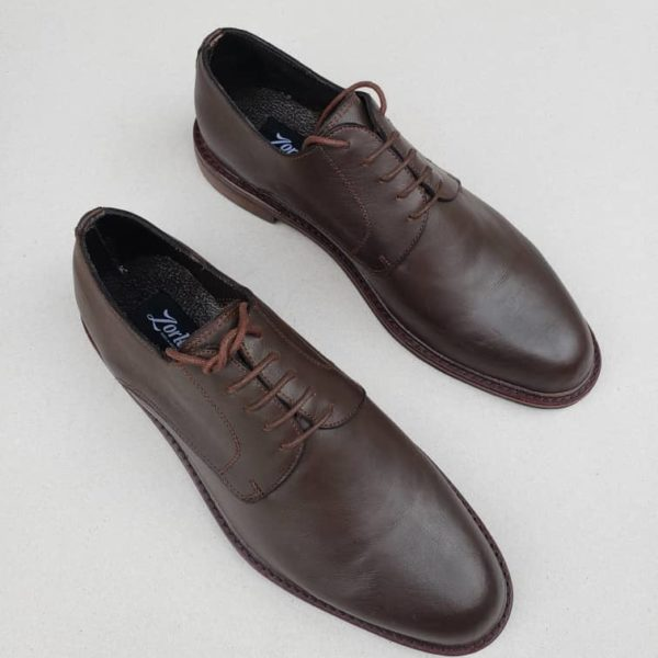 George Shoes Coffee Brown Leather ZMS089 - Zorkle Shoes