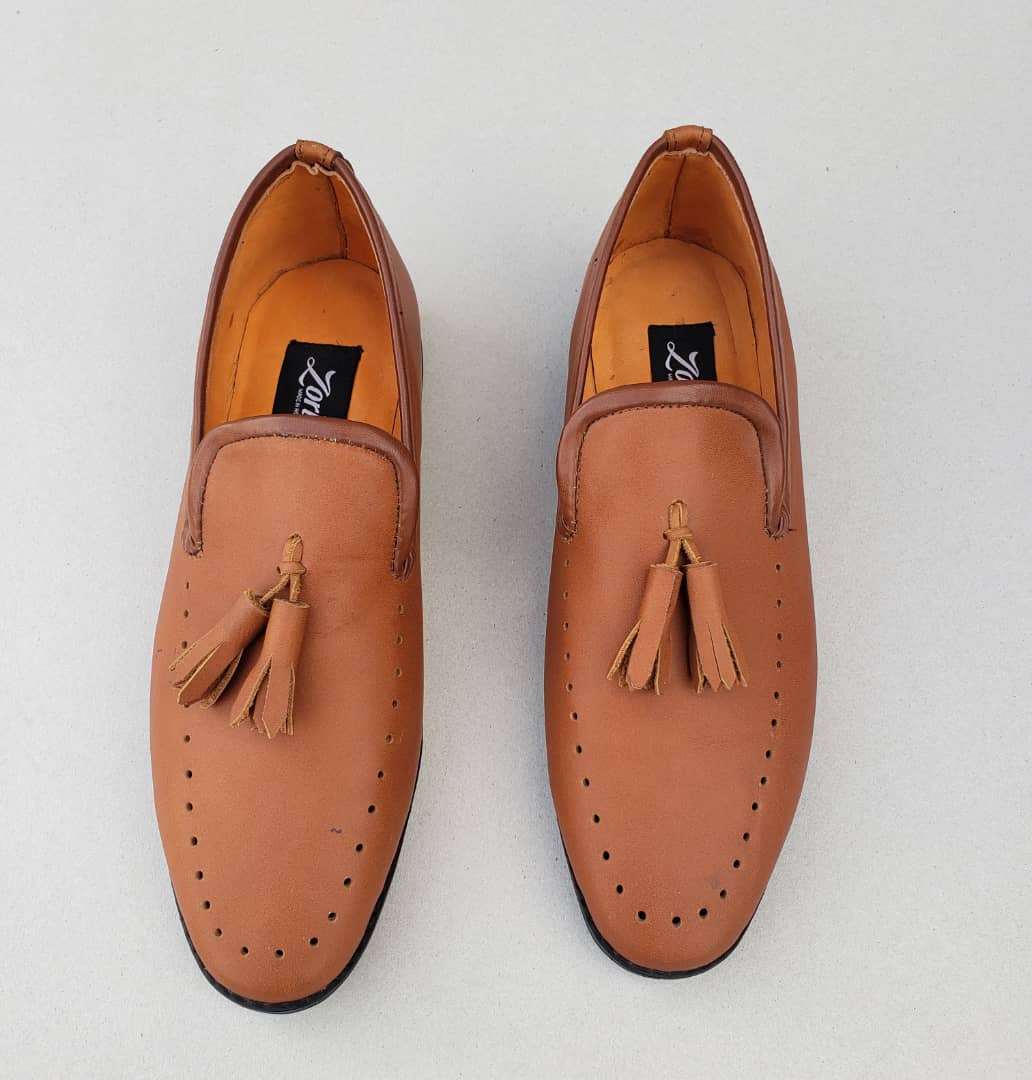 Jazzy Tassel Loafers Brown Leather ZMS060 - Zorkle Shoes