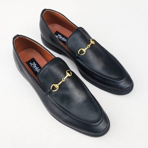 Richy Loafers Black Leather ZMS056 - Zorkle Shoes