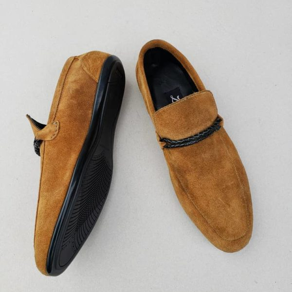 Tos Loafers Brown Suede ZMS095- Zorkle Shoes