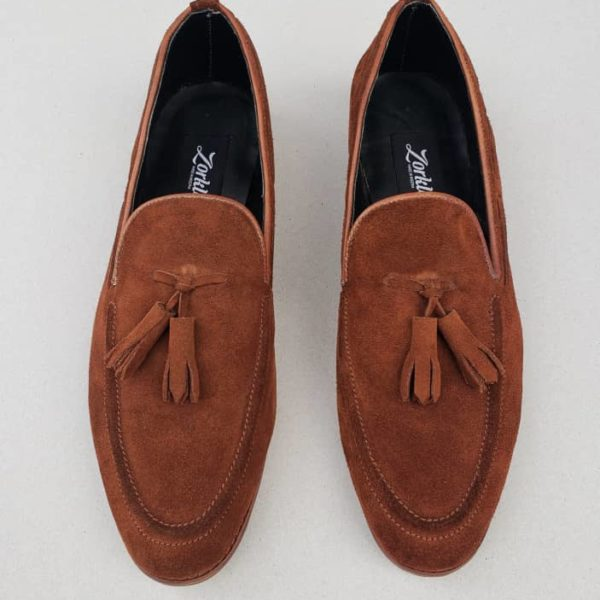 Trevor Tassel Loafers Brown Suede ZMS050 - Zorkle Shoes
