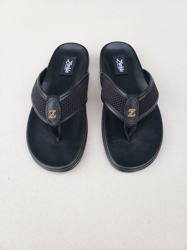 Bash Slippers Black ZMP110 - Zorkle Shoes