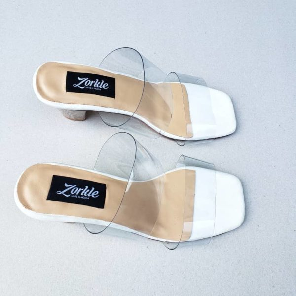 Bask Vinyl Sandal With Methacrylate Heel