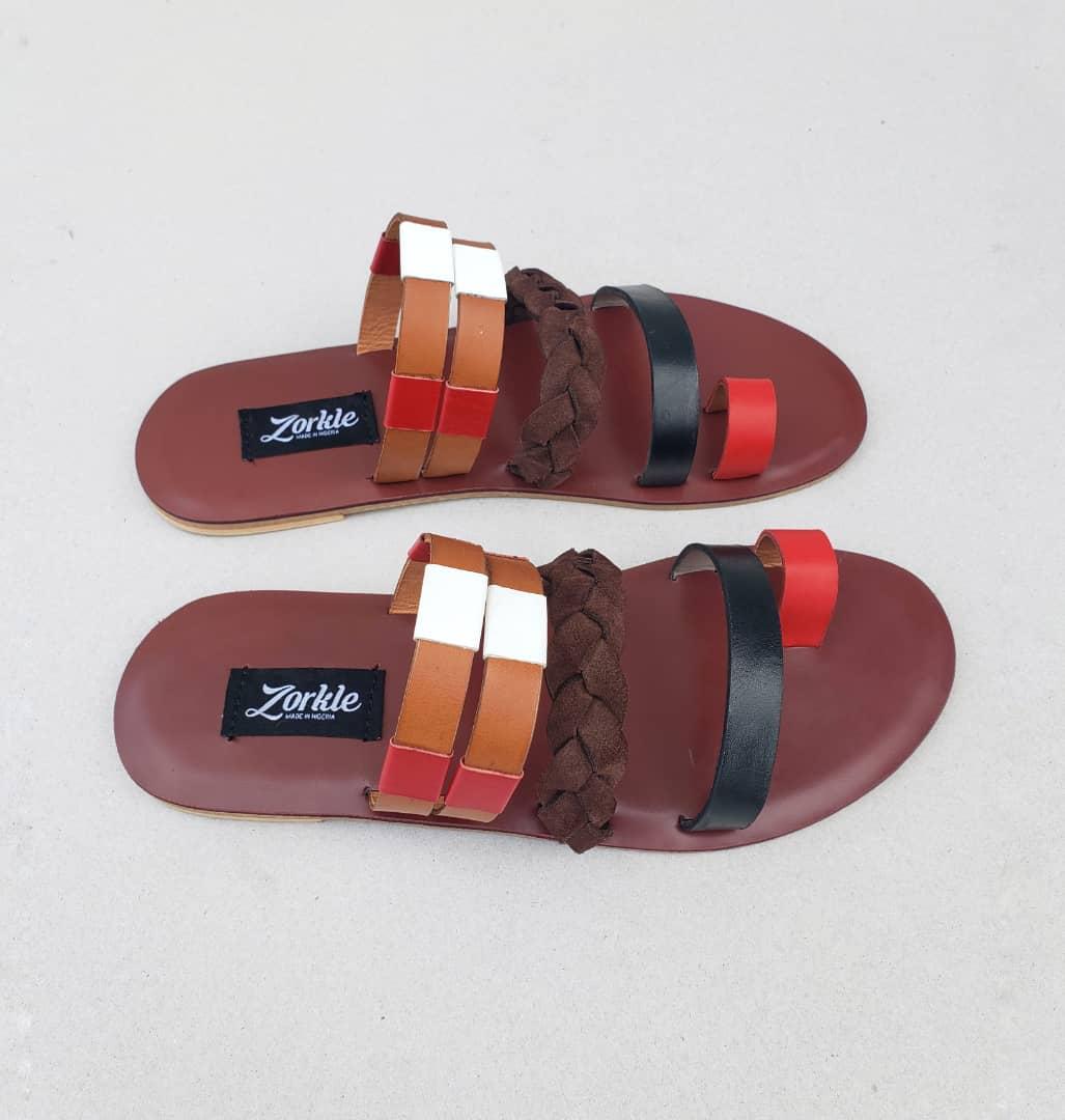Drella Slippers Black Leather ZMP111 - Zorkle Shoes