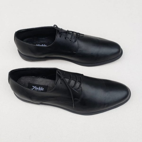 George Shoes Black Leather ZMS098 - Zorkle Shoes
