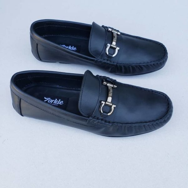 Keem Loafers Black Leather ZMS104 - Zorkle Shoes