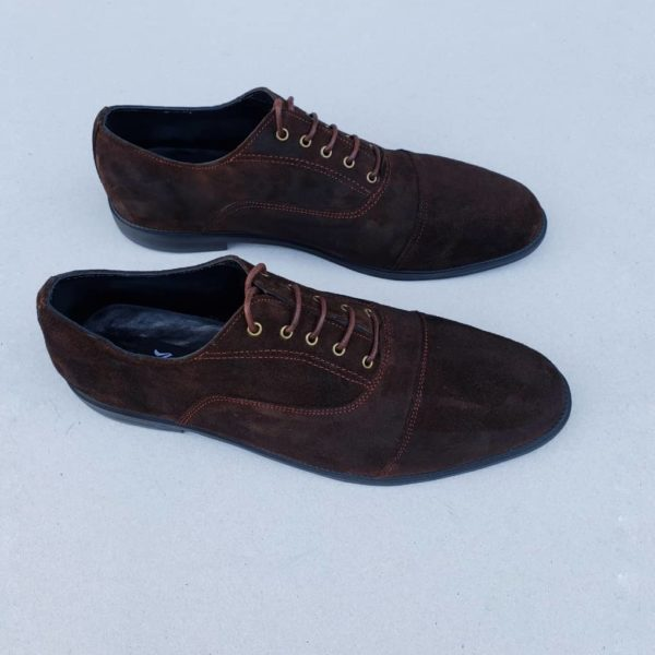 Luffy Lace Up Brown Suede Shoe