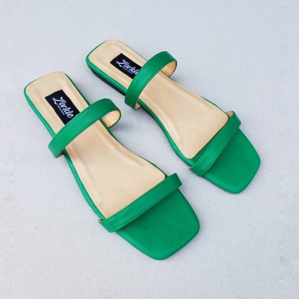 Nami Flat Slippers Green ZFP066 - zorkle shoes