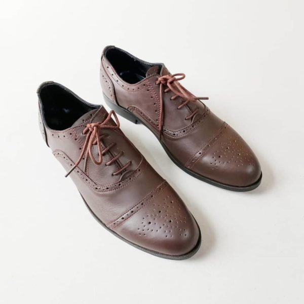 Richmond Brogues Brown Leather ZMS109 - Zorkle Shoes