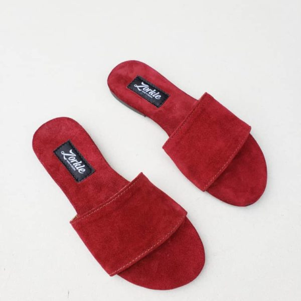 Robin Slippers Wine Suede ZFP064 - zorkle shoes