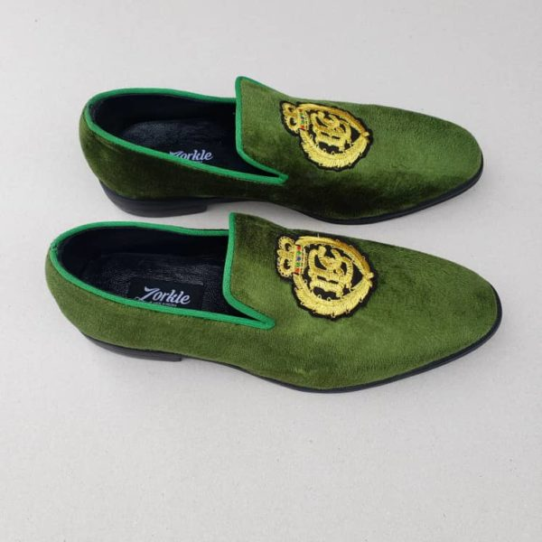 Royal Camp Loafers Lemon Velvet ZMS097 - Zorkle Shoes