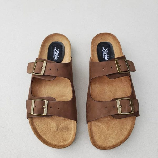 Sanji Slippers Brown Nubuck ZFP072 - Zorkles Shoes