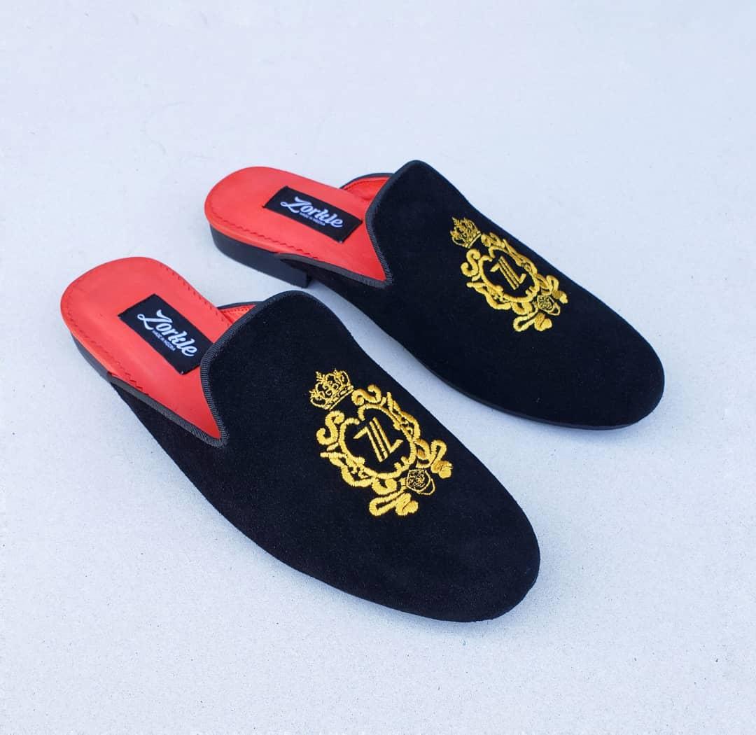 Shorla Mules Velvet ZMS107 - Zorkle Shoes