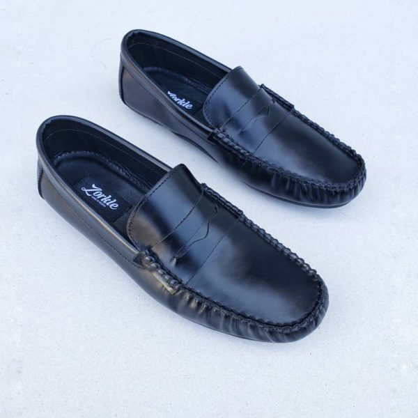 Tade Loafers Black Leather ZMS105 - Zorkle Shoes