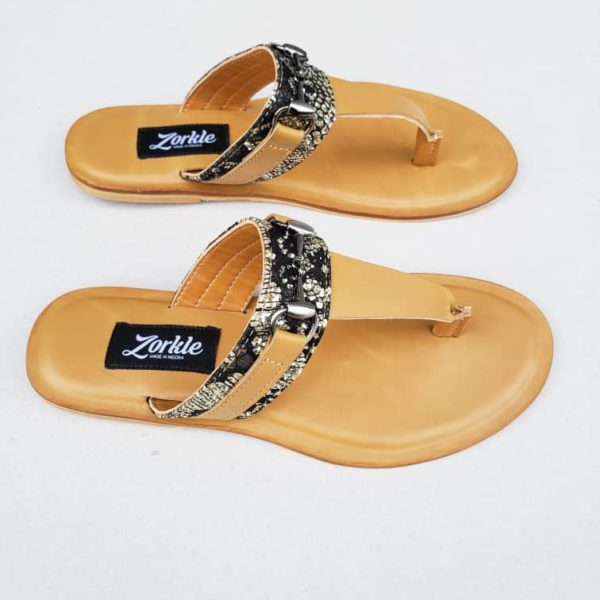 Trey Slippers Satin Leather ZMP060 - Zorkle Shoes