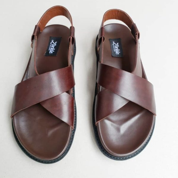 Turju Sandal Brown Leather ZMD048 - zorkle shoes