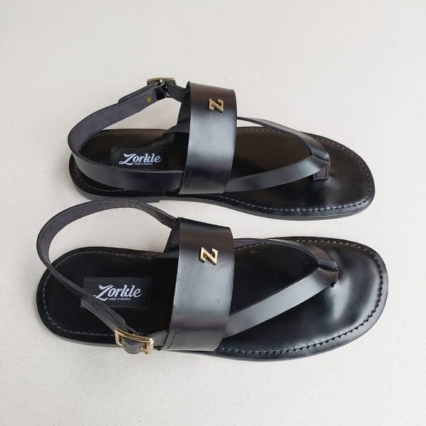 Zedo sandals black leather ZMD040 - Zorkles Shoes, Nigeria
