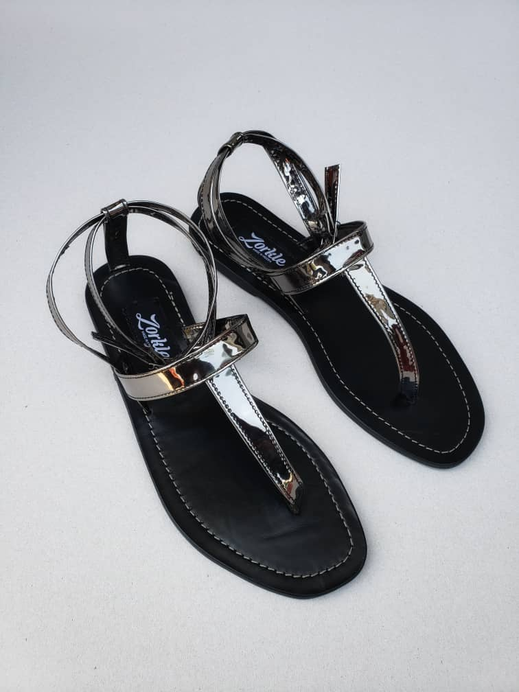 luvlyn Sandal Silver Leather ZFD044 - zorkle shoes