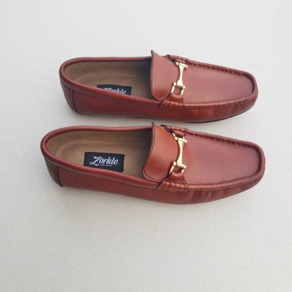 Fegz Loafers Brown Leather ZMS112 - Zorkle Shoes