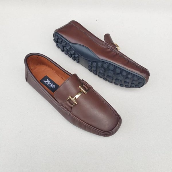 Fegz Loafers Coffee Brown Leather ZMS113 - Zorkle Shoes