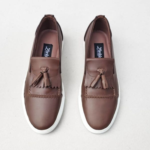 ToyorCoffee Brown Slip on ZMS116 - Zorkle Shoes