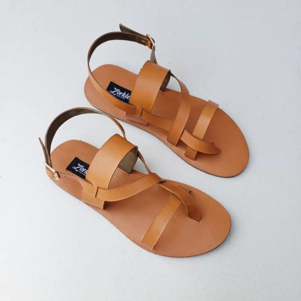 Kuti Sandals Brown Leather ZMD050- Zorkle Shoes