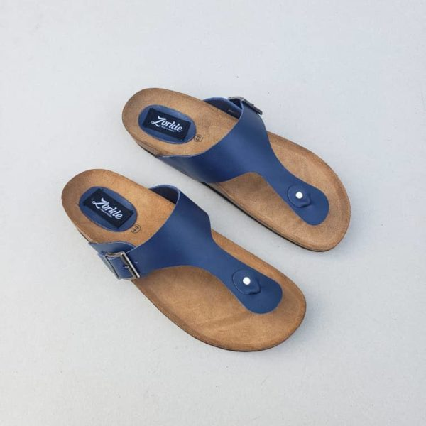 Lux Look Slippers Blue ZMP117 - Zorkle Shoes