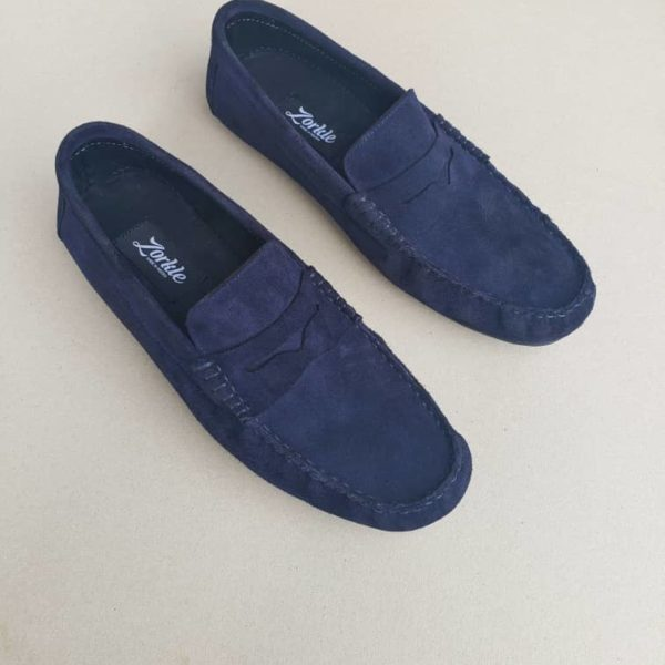 Tade Loafers Blue Suede ZMS114 - Zorkle Shoes