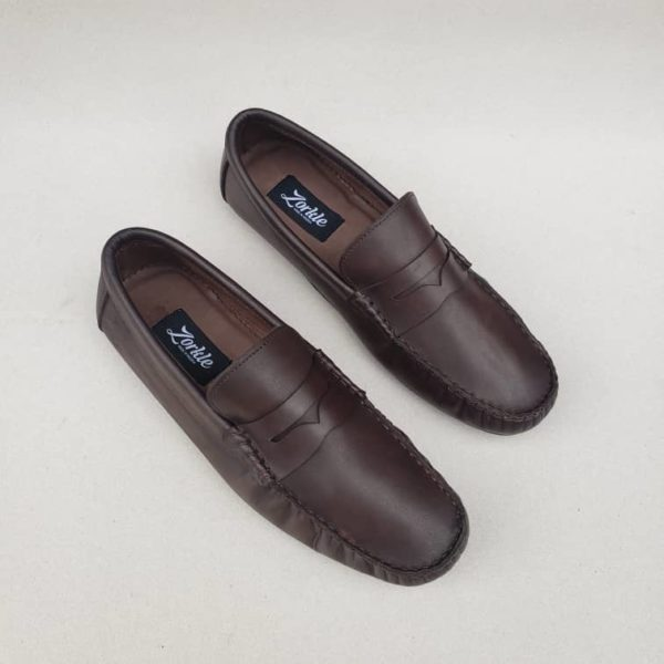 Tade Loafers Coffee Brown Leather ZMS115 - Zorkle Shoes