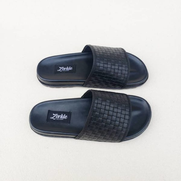 Borlu Slippers Black ZMP124 - Zorkle Shoes