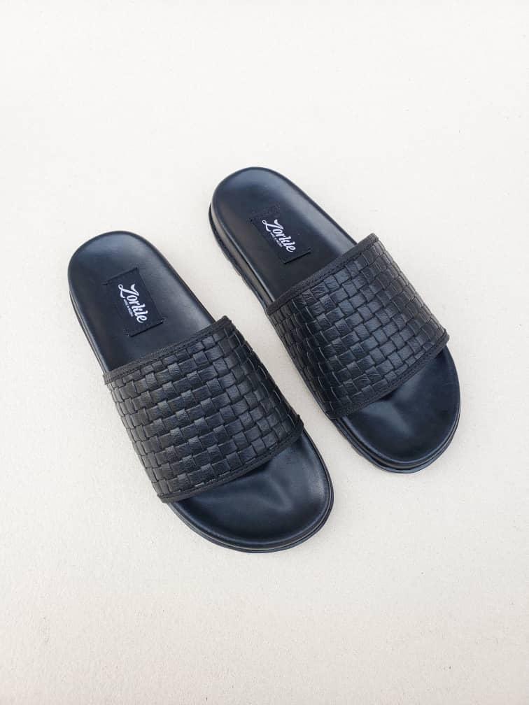 Borlu Slippers Black ZMP124 - Zorkle Shoes
