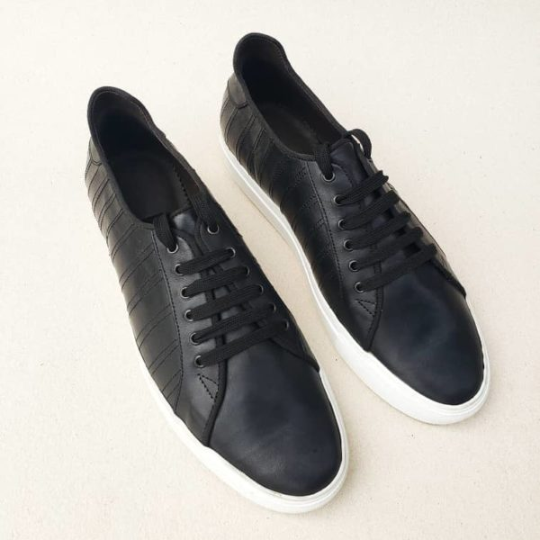 Lerma Black Leather Sneakers
