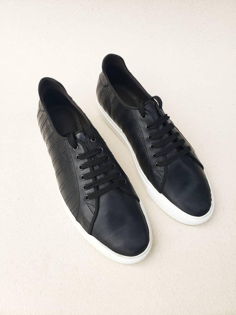 Lerma Black Leather Sneakers