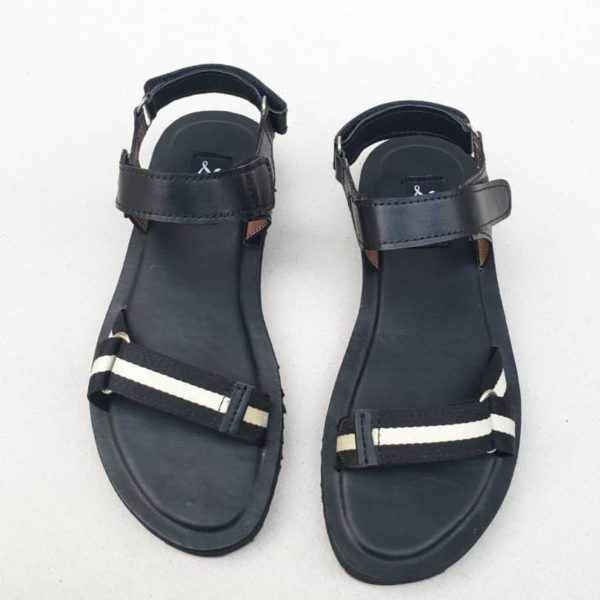 Ikay Sandals Black Webbing ZMD053 - Zorkle Shoes