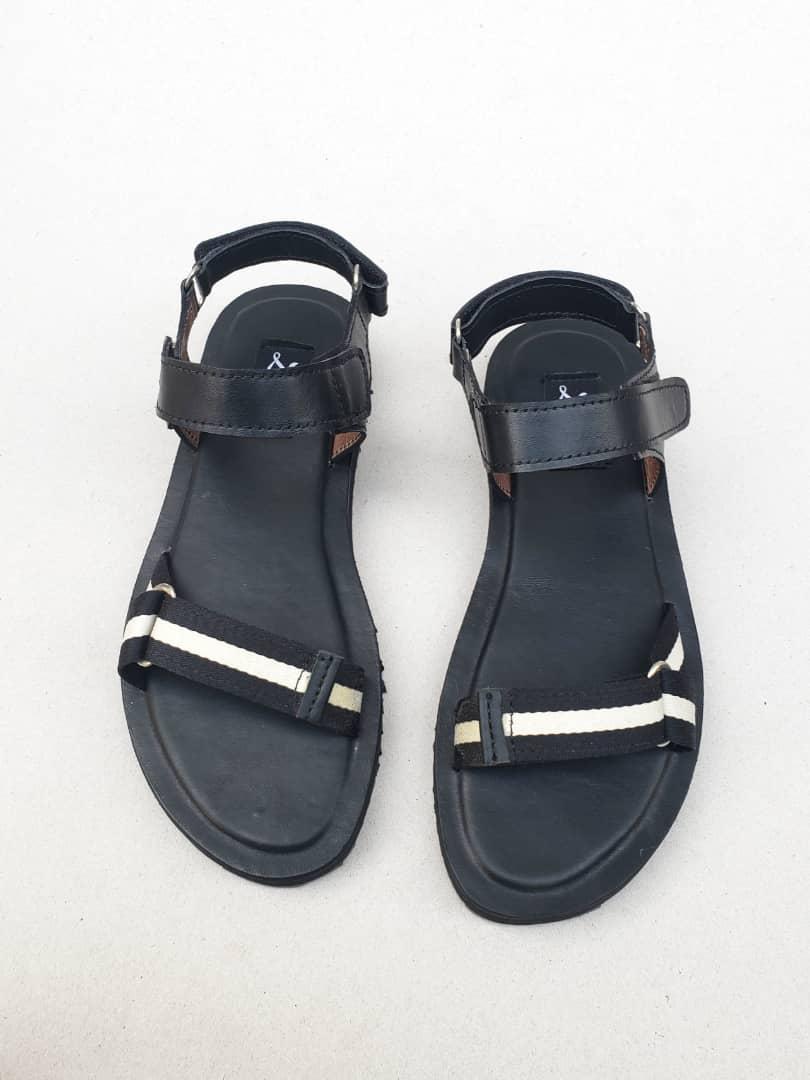 Ikay Sandals Black Webbing ZMD053 - Zorkle Shoes