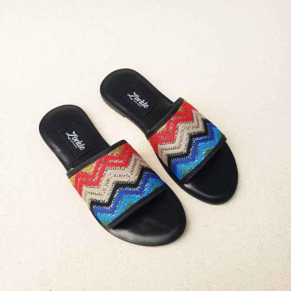 Qudi Slippers Fabric Multicoloured