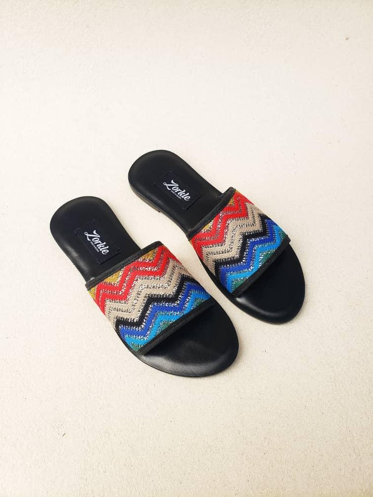 Qudi Slippers Fabric Multicoloured