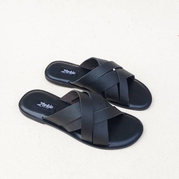 Borlu Slippers Black ZMP126 - Zorkle Shoes